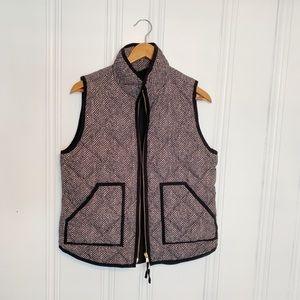 J Crew Herringbone Puffer Vest Size M